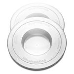 KitchenAid White Mixer Bowl Cover for Models KV25G and KP26M1X, Set of 2