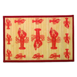 Sunday Morning Home Veranda Lobster Bamboo 12 x 18 Inch Placemat, Set of 6