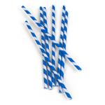 Kikkerland Box of 144 Blue Paper Straws