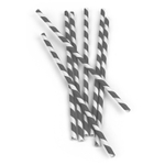 Kikkerland Box of 144 Gray Paper Straws