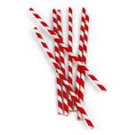 Kikkerland Box of 144 Red Paper Straws