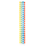 Kikkerland Box of 144 Plaid Paper Straws