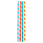 Kikkerland Box of 144 Striped Paper Straws
