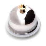 Mauviel M'tradition Porcelain and Stainless Steel Butter Dish