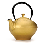 Primula Fleur Gold Cast Iron 32 Ounce Teapot with Stainless Steel Infuser