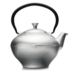 Primula Fleur Silver Cast Iron 32 Ounce Teapot with Stainless Steel Infuser