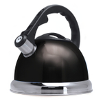 Primula Safe-T Black Stainless Steel 3 Quart Whistling Kettle