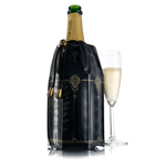 VacuVin Black Classic Active Champagne Cooler Sleeve
