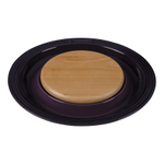 Le Creuset Cassis Stoneware Cheese Server with Beechwood Cutting Board