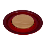 Le Creuset Cherry Stoneware Cheese Server with Beechwood Cutting Board