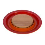 Le Creuset Flame Stoneware Cheese Server with Beechwood Cutting Board