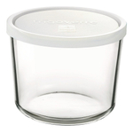 Bormioli Rocco Frigoverre 47.5 Ounce Round Container with Frosted White Lid