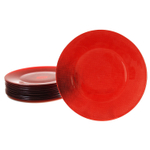 Bormioli Rocco Inca Red 12.25 Inch Glass Charger Plate