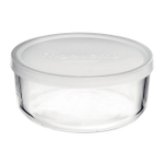 Bormioli Rocco Frigoverre 24.75 Ounce Round Container with Frosted White Lid