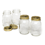 Bormioli Rocco Quattro Stagioni 5 Ounce Glass Jar, Set of 4
