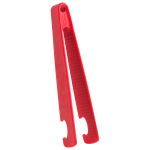 Trudeau Stay Cool Red Silicone 7 Inch Toaster Tong
