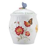 Lenox Butterfly Meadow Porcelain Sentiment Cookie Jar