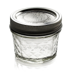 Ball Quilted Crystal 4 Ounce Jelly Mason Jar, Set of 12
