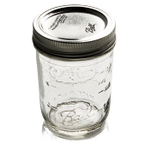 Ball Glass 8 Ounce Mason Jar With Steel Lid, Set of 12