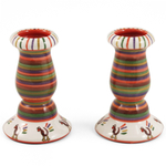 Our Name Is Mud Thanksgiving Turkey Candlestick, Set of 2