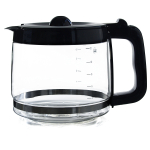 Capresso Glass with Black Accents 12 Cup Replacement Carafe For CoffeeTEAM PRO
