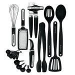 Kitchenaid 17 Piece Black Kitchen Tool and Gadget Set