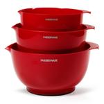 Farberware Classic Red 3 Piece Mixing Bowl Set