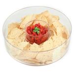 Artland Simplicity 2 Piece Glass Round Chip and Dip Set
