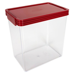 Click Clack Kitchen Essentials Airtight 4.5 Quart Storage Container with Red Lid