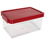 Click Clack Kitchen Essentials Airtight 2 Quart Storage Container with Red Lid