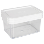Click Clack Kitchen Essentials Airtight 0.45 Quart Storage Container with White Lid