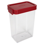 Click Clack Kitchen Essentials Airtight 1.25 Quart Storage Container with Red Lid
