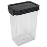 Click Clack Kitchen Essentials Airtight 1.25 Quart Storage Container with Charcoal Lid