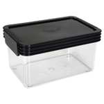 Click Clack Kitchen Essentials Airtight 1 Quart Storage Container with Charcoal Lid