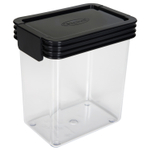 Click Clack Kitchen Essentials Airtight 0.9 Quart Storage Container with Charcoal Lid