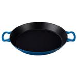 Le Creuset Marseille Blue Enameled Cast Iron 3.25 Quart Paella Pan