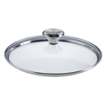 Le Creuset Signature Tempered Glass Lid with Knob Handle For 9.5 Inch Stainless Steel or Nonstick Fry Pan