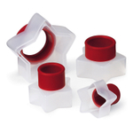 Cuisipro Snap-Fit Red Star Shapes Cookie Cutter Set