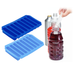 Progressive Ice 'n Slice Dark Blue and Light Blue Bottle Ice Tray, Set of 2