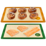 Mrs. Anderson's Baking Silicone Non-Stick Sweet and Savory 2 Piece Baking Mat Set