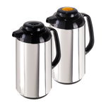 Oggi Brew Connoisseur 2 Piece Satin Finish Stainless Steel 34 Ounce Carafe Set