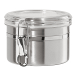 Oggi Stainless Steel 26 Ounce Canister with Airtight Acrylic Clamp Lid