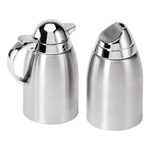 Oggi Stainless Steel Sugar and Creamer Set with Mirror Tops
