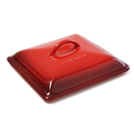Le Creuset Cherry Stoneware Replacement Lid for 2.5 Quart Covered Square Casserole Dish
