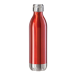 Oggi Calypso Lustre Red Stainless Steel 17 Ounce Sport Bottle with Screw Top