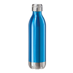 Oggi Calypso Lustre Blue Stainless Steel 17 Ounce Sport Bottle with Screw Top