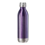 Oggi Calypso Lustre Purple Stainless Steel 17 Ounce Sport Bottle with Screw Top