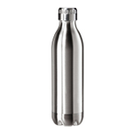 Oggi Calypso Lustre Satin Finish Stainless Steel 17 Ounce Sport Bottle with Screw Top