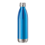 Oggi Calypso Lustre Blue Stainless Steel 25 Ounce Sport Bottle with Screw Top