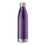 Oggi Calypso Lustre Purple Stainless Steel 25 Ounce Sport Bottle with Screw Top